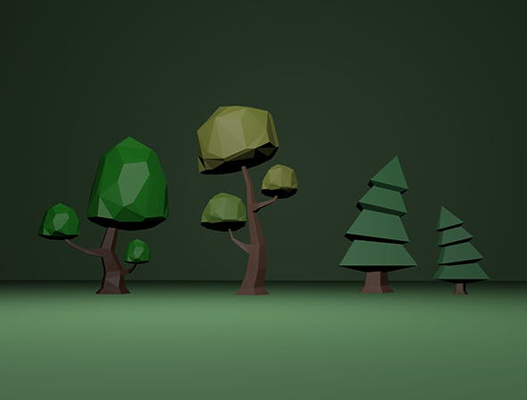 Low poly Trees: - 3DOcean Item for Sale