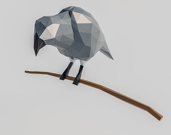 Lowpoly Parrot 001 - 3DOcean Item for Sale
