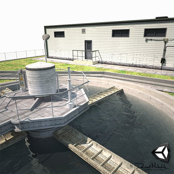 Water Treatment Plant Low Poly - 3DOcean Item for Sale