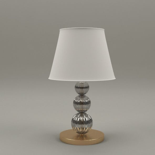 Gold and glass lamp