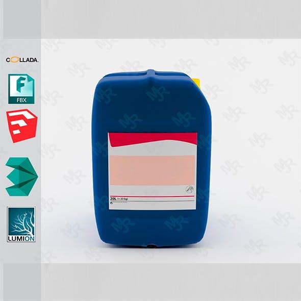 Bidon Plastic Bottle1 - 3DOcean Item for Sale