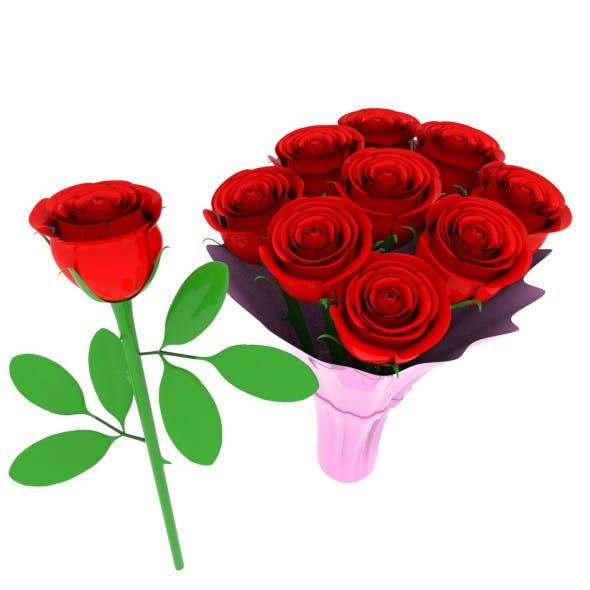 roses flowers - 3DOcean Item for Sale