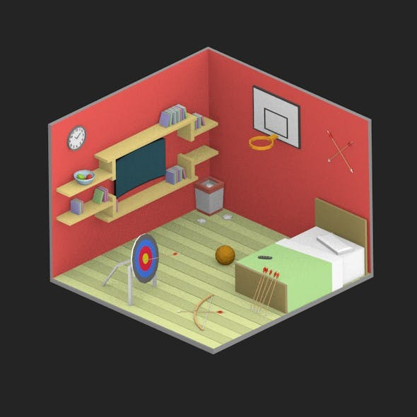 Low Poly Room 04