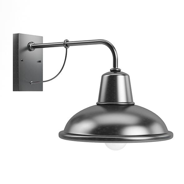 Large Round Exterior Lamp 3D Model - 3DOcean Item for Sale