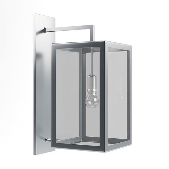Rectangular Wall Exterior Lamp 3D Model