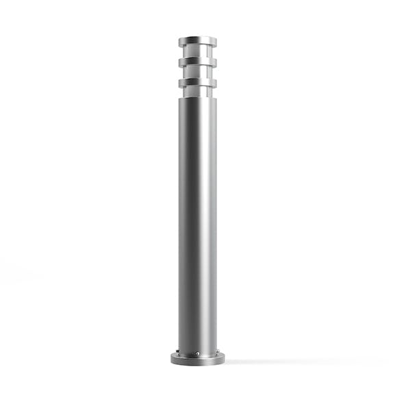 Cylindrical Exterior Standing Lamp 3D Model