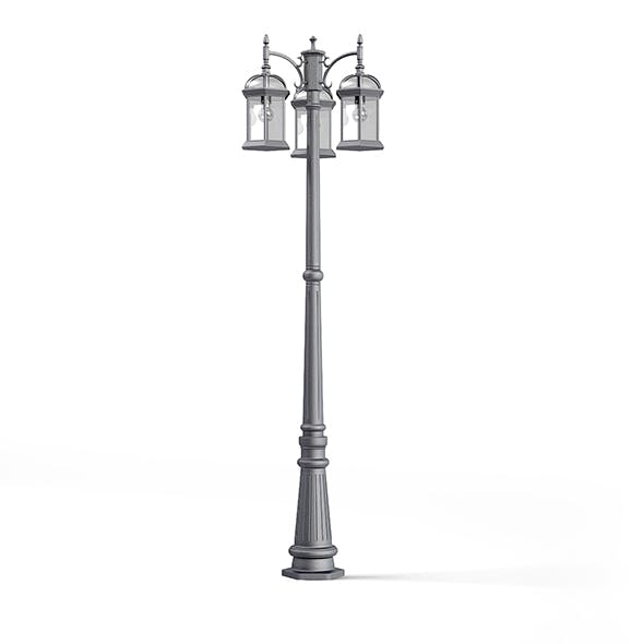 Triple Park Lantern 3D Model - 3DOcean Item for Sale