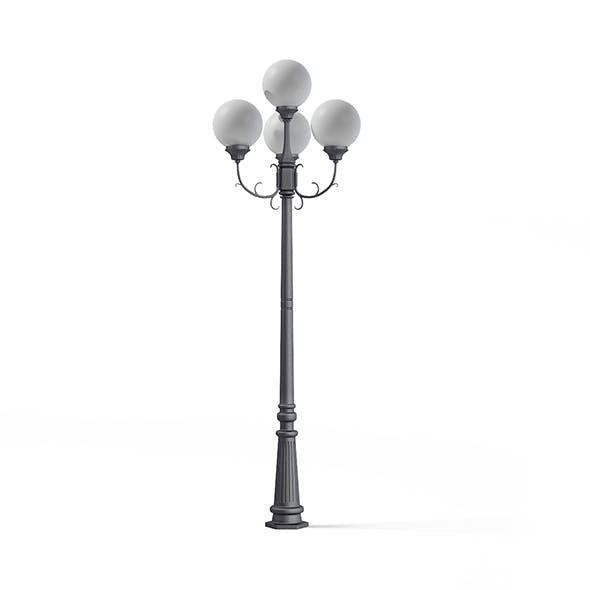 Triple Park Lamp 3D Model - 3DOcean Item for Sale