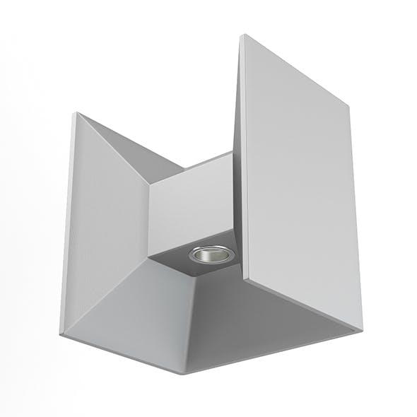 Rectangular Modern Exterior Wall Lamp 3D Model