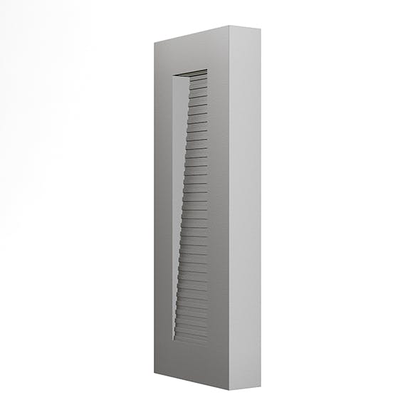 Rectangular Modern Exterior Wall Lamp 3D Model - 3DOcean Item for Sale