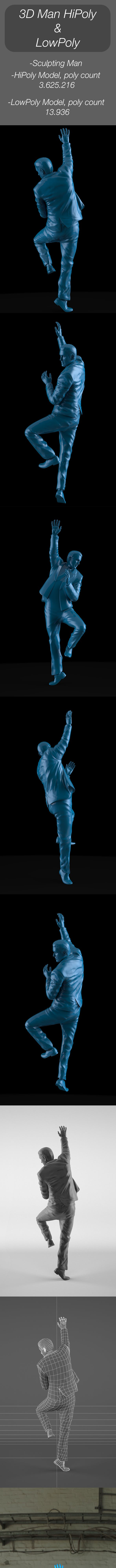 3D Sculpting Man - 3DOcean Item for Sale