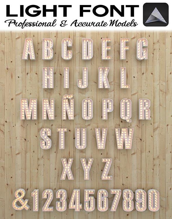 Light Font - 3DOcean Item for Sale