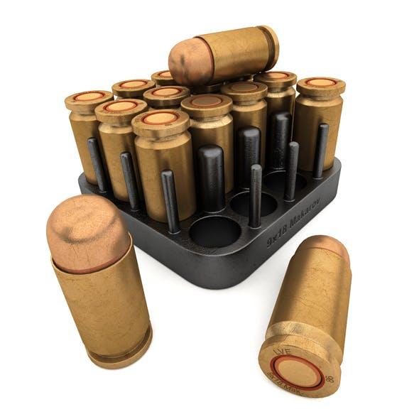 Pistol cartridge Makarov caliber 9 millimeters (9x18)