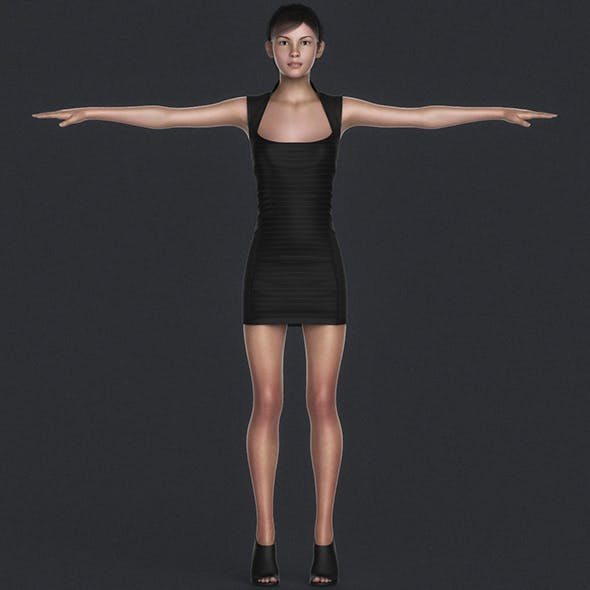 Photoreal Young Sexy Girl - 3DOcean Item for Sale