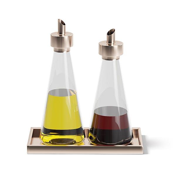 Oil and Sauce Bottles 3D Model - 3DOcean Item for Sale