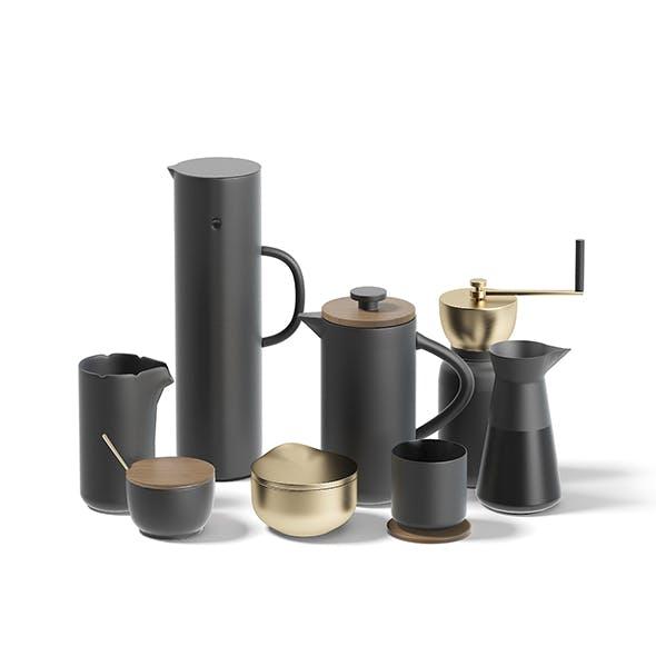 Coffee Utensils 3D Model - 3DOcean Item for Sale