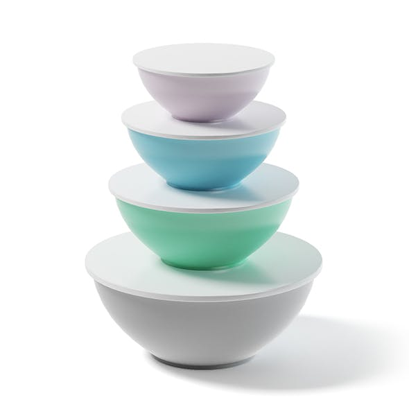 Bowls Set 3D Model - 3DOcean Item for Sale