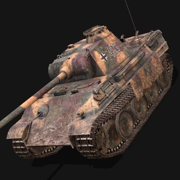 Panther tank - 3DOcean Item for Sale