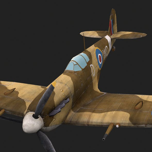 Supermarine Spitfire - 3DOcean Item for Sale