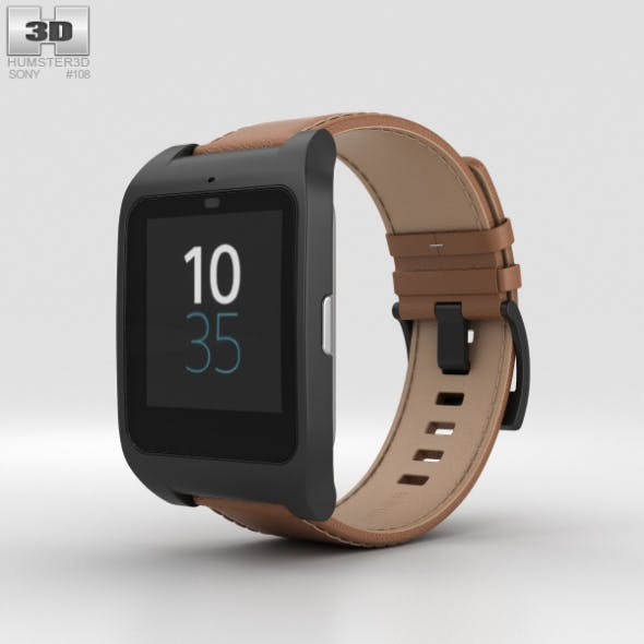 Sony SmartWatch 3 SWR50 Leather Brown - 3DOcean Item for Sale