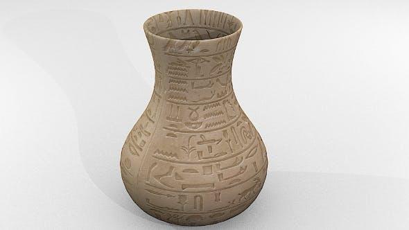 Vase Egyptian - 3DOcean Item for Sale