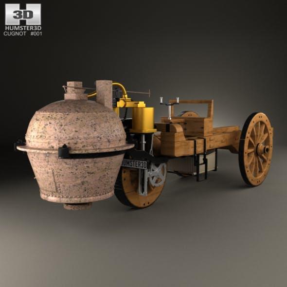Cugnot Fardier a vapeur 1771 - 3DOcean Item for Sale