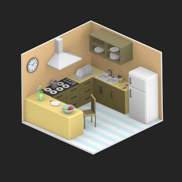 Low Poly Room 03