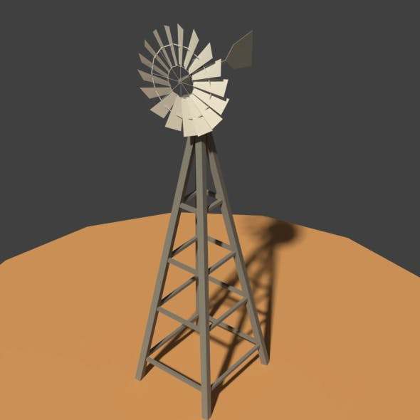 Low Poly Wind Mill