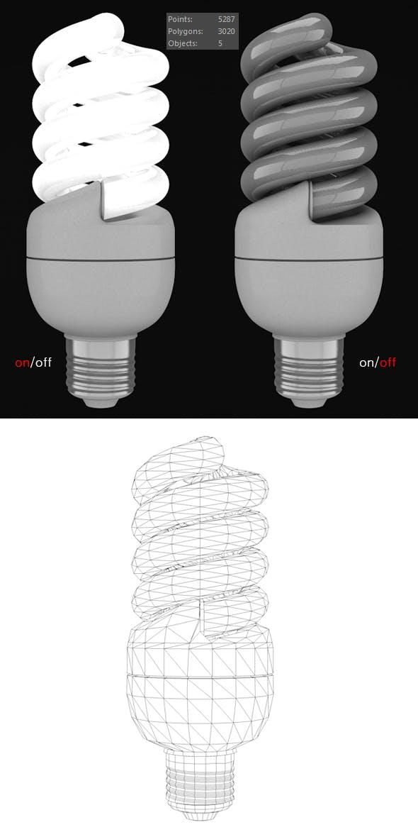 Energy saving lamp - 3DOcean Item for Sale