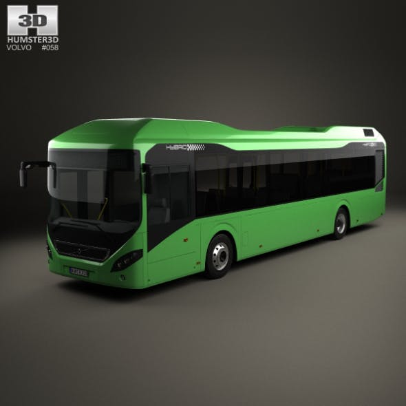 Volvo 7900 Hybrid Bus 2011 - 3DOcean Item for Sale
