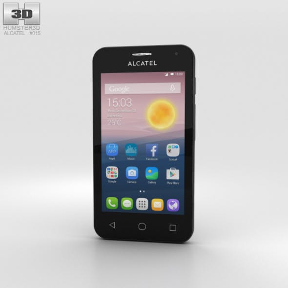 Alcatel OneTouch Pixi First Gold - 3DOcean Item for Sale
