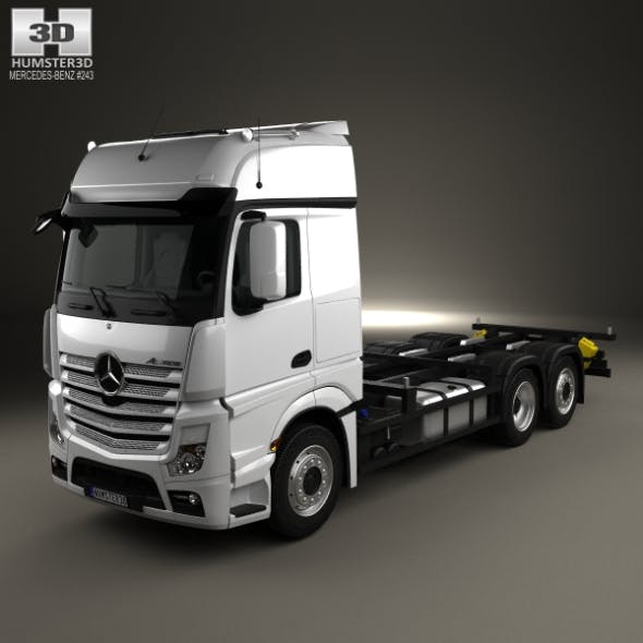 Mercedes-Benz Actros Chassis Truck 3-axle 2011 - 3DOcean Item for Sale