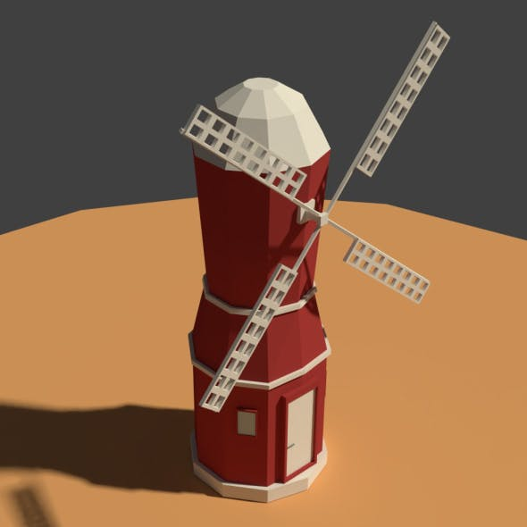 Low Poly Farm Wind Mill 2