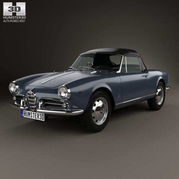 Alfa Romeo Giulietta Spider 1955 - 3DOcean Item for Sale