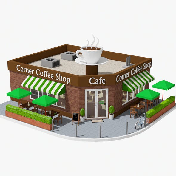 Corner Coffee Shop (interior/exterior)
