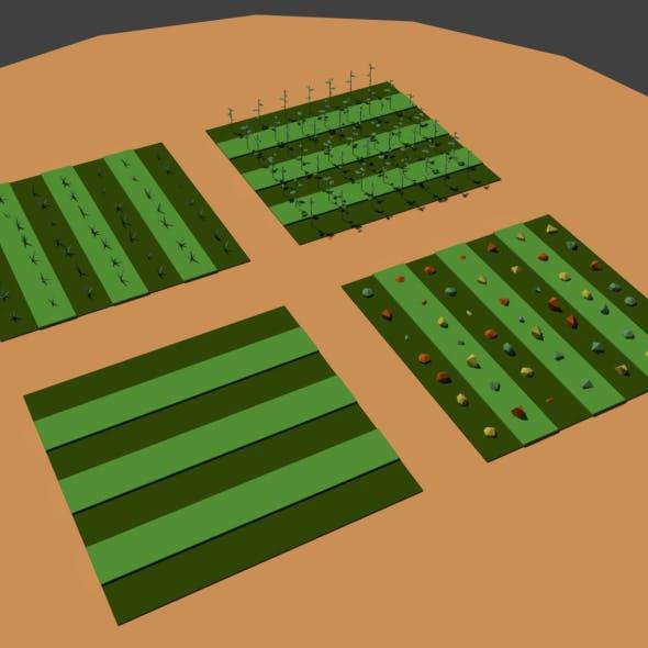 Low Poly Farm Fields - 3DOcean Item for Sale