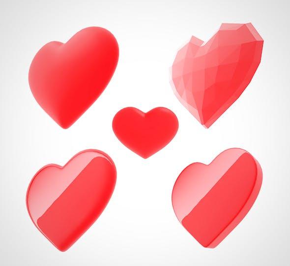 3d heart (love) - 3DOcean Item for Sale