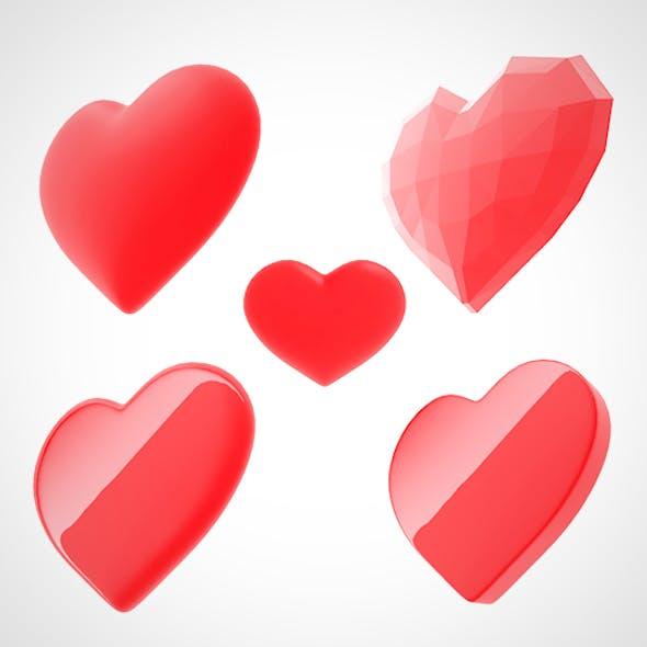 3d heart (love)