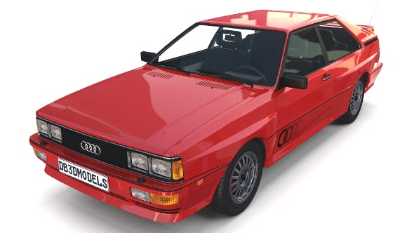 1981 Audi Coupe Quattro with interior Red - 3DOcean Item for Sale