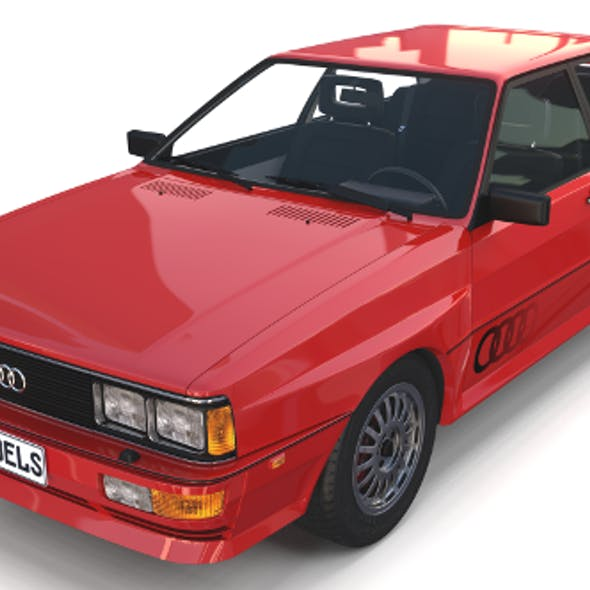 1981 Audi Coupe Quattro with interior Red