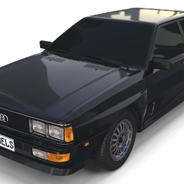 1981 Audi Coupe Quattro Black
