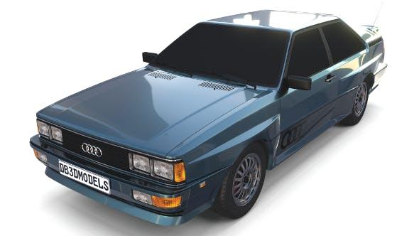 1981 Audi Coupe Quattro Dark Blue - 3DOcean Item for Sale