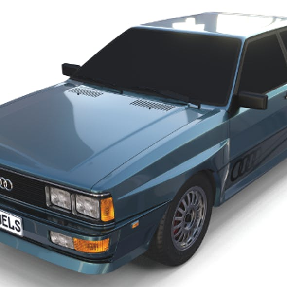 1981 Audi Coupe Quattro Dark Blue