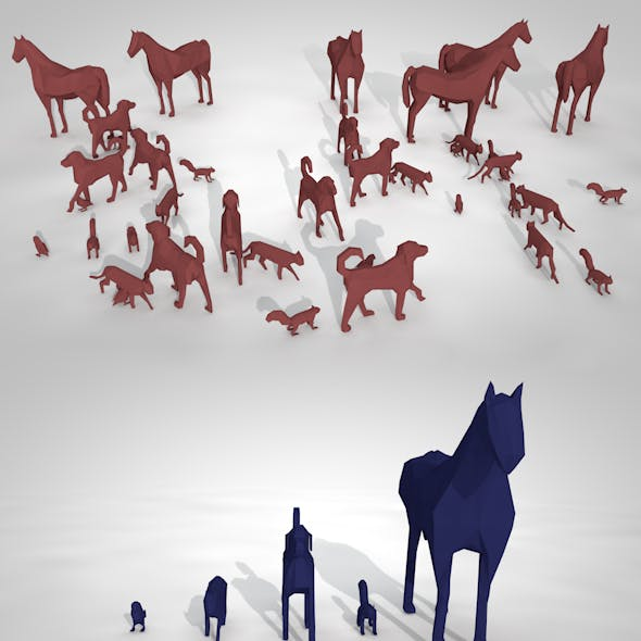 Pack of Low Poly Animals