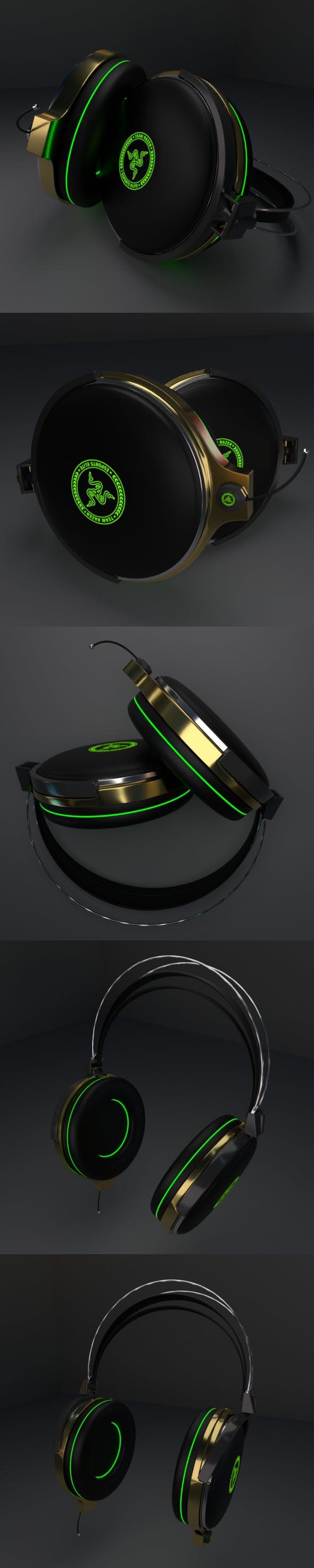 Headphones Razer - 3DOcean Item for Sale