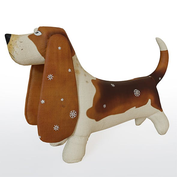 Basset dog fabric toy