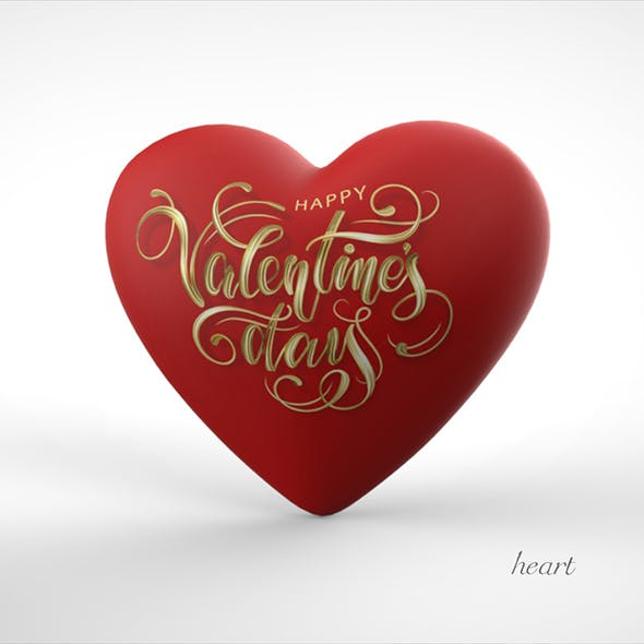 """Heart balloon """"valentines day"""" - 3DOcean Item for Sale"""