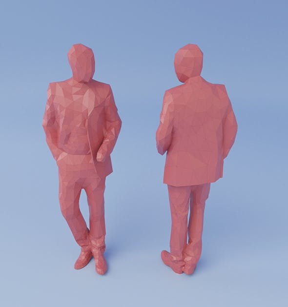 Low-poly Man - 3DOcean Item for Sale