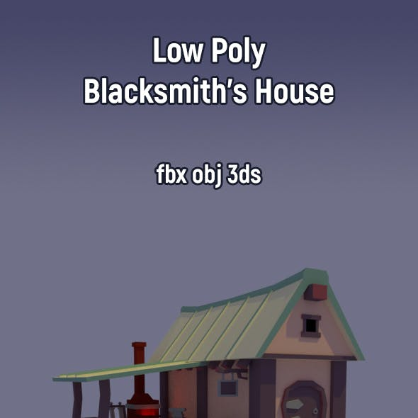 Low Poly Blacksmith's House