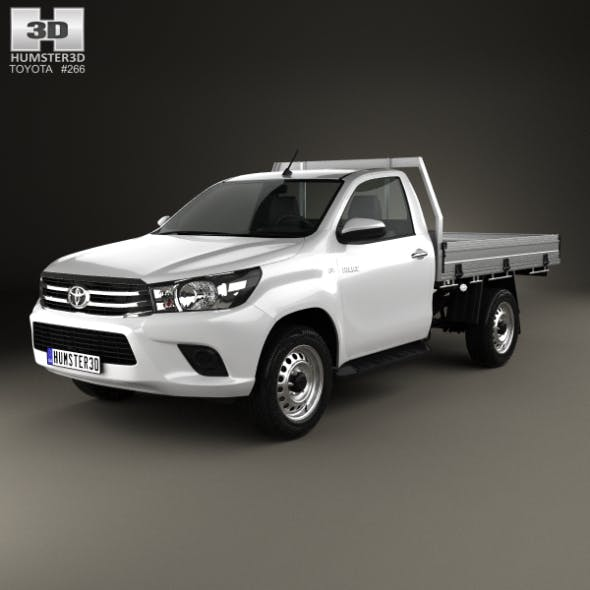 Toyota Hilux Single Cab Alloy Tray SR 2015 - 3DOcean Item for Sale
